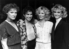 Glenn Close, Barbara Hershey, Kim Basinger and Olivia Newton John (1984)