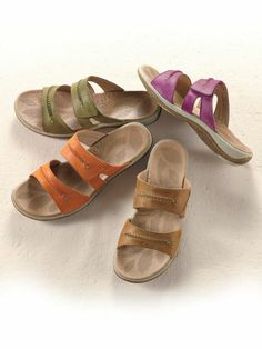 Women's Acorn Light Leather Sandals for great arch support | Solutions