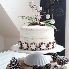 Nachgebacken: apfel-zimtstern-törtchen *fifofein* Christmas Lunch, Christmas Desserts, Christmas Treats, Christmas Baking, Christmas Cakes, Diy Christmas, Mini Cakes, Cupcake Cakes, Gingerbread Cake