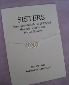 ... Schwester-Halskette. Schwester-Geschenk. Braut. Brautjungfer Schwester