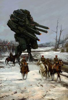 Jakub Różalski erfindet den polnisch-sowjetischen Krieg neu—mit riesigen Robotern | VICE | Deutschland