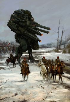 Jakub Różalski Reimagines the Polish-Soviet War With Robots | VICE | United Kingdom