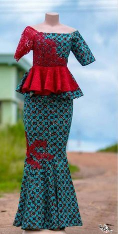 Ankara skirt and blouse style for wedding:Check out stunning and creative ankar. - Ankara skirt and blouse style for wedding:Check out stunning and creative ankar. Ankara skirt and blouse style for wedding:Check out stunning and cr. Modern African Print Dresses, African Dresses For Kids, African Maxi Dresses, Latest African Fashion Dresses, African Attire, Ankara Skirt And Blouse, Ankara Dress Styles, Blouse Styles, Ankara Rock