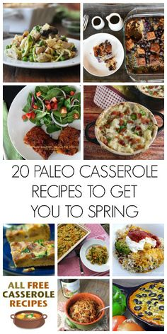20 Paleo Casserole Recipes to Get You to Spring. Great resource for paleo recipes.