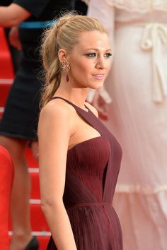 Blake Lively Cannes 2014 // hair & accessories compliment dress perfectly