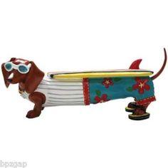 Hot Diggity Dachshund Surf's Up Dog Figurine 16475 | eBay