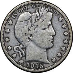 1915-D Barber Half Dollar, Very Fine VF