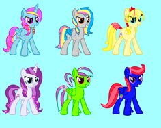 These are my friends and my OC's crystal ponies