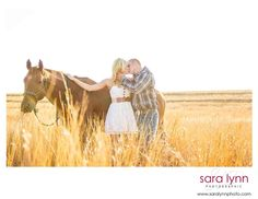 Engagement Session with Couch at Lover's Lane, horses and field engagement session! Super Cute idea! SLP, www.saralynnphoto.com