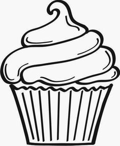 Fuzzy loves cupcake coloring pages and banners. Cupcakes and muffins are delicious! Take these coloring sheets to your next cupcake party. Cupcake Coloring Pages, Colouring Pages, Coloring Books, Cupcake Kunst, Cupcake Art, Cupcake Crafts, Cupcake Logo, Cupcake Outline, Applique Designs