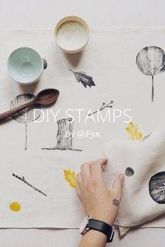 #Make #handmade #stamps #design #craft #kids #activity #school #teacher #classroom #art #DIY