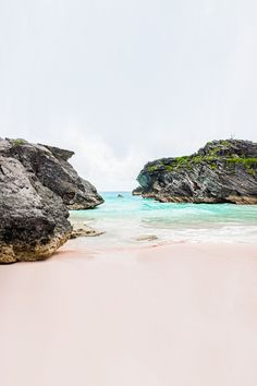 Pink Sand Beach, in the Bahamas