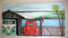 Artwork by Steve Hoskin - SAW artist NZ Art Show 2013 Artist Wall, Nz Art, Kiwiana, Tumblr, Volkswagen Bus, New Zealand, Artwork, Artists, Work Of Art