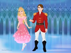 Clara the Sugar Plum Princess and Prince Eric the Nutcracker Prince from Barbie in the Nutcracker.