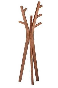 Tree coat stand walnut product code : 107275 Stylized from nature in rich walnut veneer, this is the coat stand you will not want people to cover up with their coats. Tree Coat Rack, Coat Tree, Rack Design, Stand Design, Cloth Hanger Stand, Coat Stand Hallway, Cool Furniture, Modern Furniture, 3d Puzzel