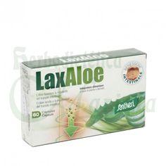 Santiveri, Cápsulas Vegetales LaxAloe, un complemento alimenticio a base de aloe vera e Hinojo que ayuda a la regularidad del tránsito intestinal y a evitar las flatulencias y espamos de vientre.