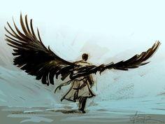 castiel wings fan art - Google Search