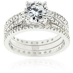 @Overstock - Cubic zirconia bridal ring setSterling silver jewelryClick here for ring sizing guidehttp://www.overstock.com/Jewelry-Watches/Icz-Stonez-Sterling-Silver-Cubic-Zirconia-Bridal-Ring-Set/5271537/product.html?CID=214117 AUD              44.50