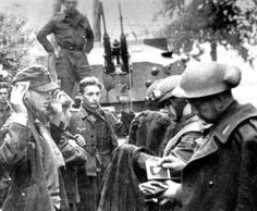 Interrogation of Germans prisoners of war (Battle of Falaise).
