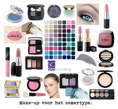 """Make-upkleuren voor de koele zomertypes/ Make-up colors for a cool summer."" By Margriet Roorda."