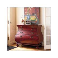Hooker Furniture Adagio Red Bombe Chest