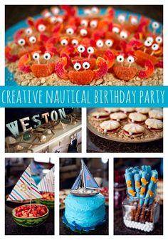 Creative Nautical Party Ideas on www.prettymyparty.com.
