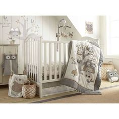 Levtex Baby Night Owl 5 Piece Crib Bedding Set