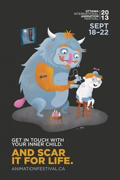 Quirky print ad campaign gives animation festival a boost | Posters | Creative Bloq