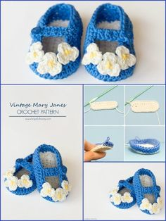 Crochet Vintage Mary Janes - Top 40 Free Crochet Baby Booties Patterns