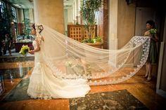Incredible vintage cathedral veil