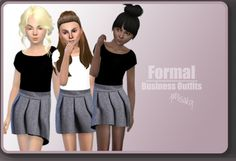 Xmisakix sims: Business Outfits for girls • Sims 4 Downloads