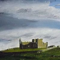 The Rock of Cashel  Painted May 2013 Oil On Board 9 X 12 ins  (Irish: Carraig Phádraig), also known as Cashel of the Kings and St. Patrick's Rock, is a historic site located at Cashel, South Tipperary, Ireland