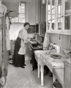 This is what kitchens looked like in the same decade that my house was built... hmm....