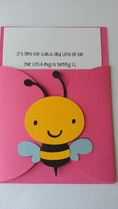 Bug Garden party theme pocket invitation.  Pick by SweetBugABoo, $27.00