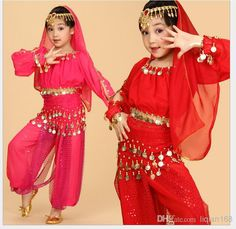 Online Cheap Childrens Indian Dance Performance Clothing Belly Dance Costume Full Sets Dress For Kid Children By Liqian168 | Dhgate.Com