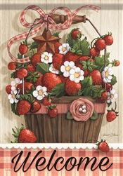 Early Bird Special: Carson Home Accents Flagtrends Classic Garden Flag, Welcome Summer Strawberries Strawberry Kitchen, Strawberry Garden, Strawberry Plants, Strawberry Pictures, Strawberry Picking, Strawberry Fields, Strawberry Decorations, Welcome Summer, Yard Flags