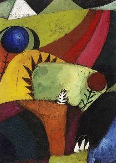 Paul Klee - Drei weisse Glockenblumen, 1920.