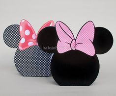 MINNIE MOUSE PINK Gift Box Set Favor Box by IraJoJoBowtique