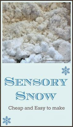 Easy Recipe for Sensory Snow