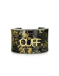 Black & Gold Resin Cuff: Black & Gold Resin Cuff leaves doubt behind and lets you know exactly what this… #Shopping #OnlineShopping #USA