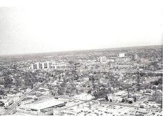 Aerial View Oklahoma City towards the Health Science Center Late 1970s by tikitonite, via Flickr Oklahoma City, Aerial View, Paris Skyline, Past, 1970s, Science, History, Health, Travel