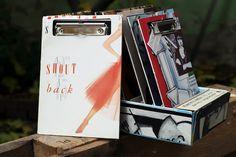 """Vinyl-Klemmbrett """"Shout Back"""" Shops, Vinyl, Paper, Stationery Set, Tents, Retail, Retail Stores"""