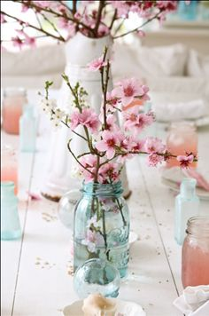 spring wedding cherry blossom centerpiece a few branches of pink almond flowers . spring wedding cherry blossom centerpiece a few branches of pink almond flowers … spring wedding cherry blossom centerpiece a few branches of pink almond flowers or cherry Cherry Blossom Centerpiece, Cherry Blossom Theme, Cherry Blossom Wedding, Cherry Blossoms, Pink Blossom, Almond Blossom, Wedding Centerpieces, Wedding Decorations, Table Decorations