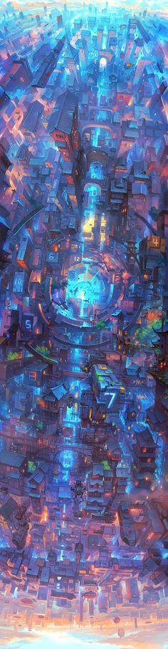 牧野记-The City of Galaxy|插画|概念设定|TRYLEA - 原创作品 - 站酷 (ZCOOL)