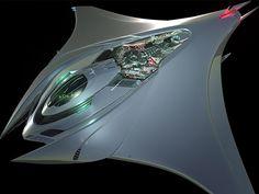 Mantaray Concept Spaceship on Behance