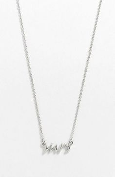 kate spade new york 'say yes - mrs' necklace available at #Nordstrom