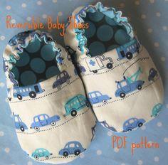 Reversible Baby Shoes PDF pattern.