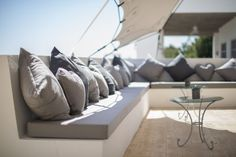 Venue Spotlight - Elixir, Ibiza - You Mean The World To Me Ibiza Wedding Venues, You Mean The World To Me, Lounge, Restaurant Furniture, Cushions, Pillows, Outdoor Landscaping, Outdoor Furniture, Outdoor Decor