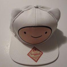 8e4652b707a Adventure Time Cute Ears Jake and Finn White Snapback Hat CLEARANCE