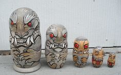 Werewolf nesting dolls by missmonster on dA